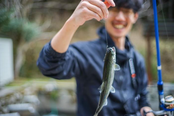 ヤマメを釣って食べた!美土里町桑田の滝ケ谷養魚場