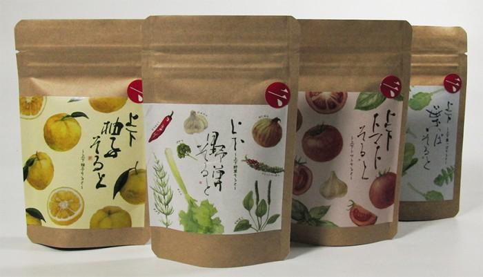 「上下野草そると」シリーズのパッケージデザイン